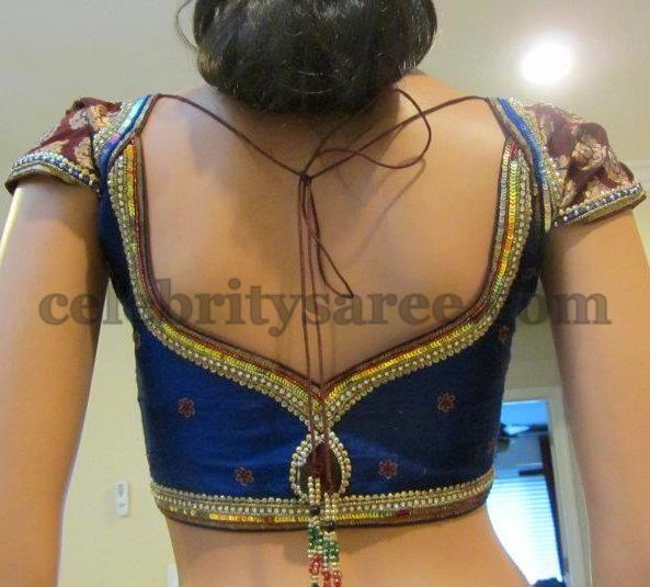 Silk Designer Blouses in Blue
