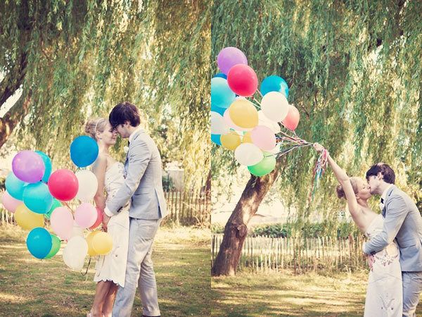 summer, balloon, engagement, setting, outdoor, garden, decor, country, miscellaneous, place setting, balloons