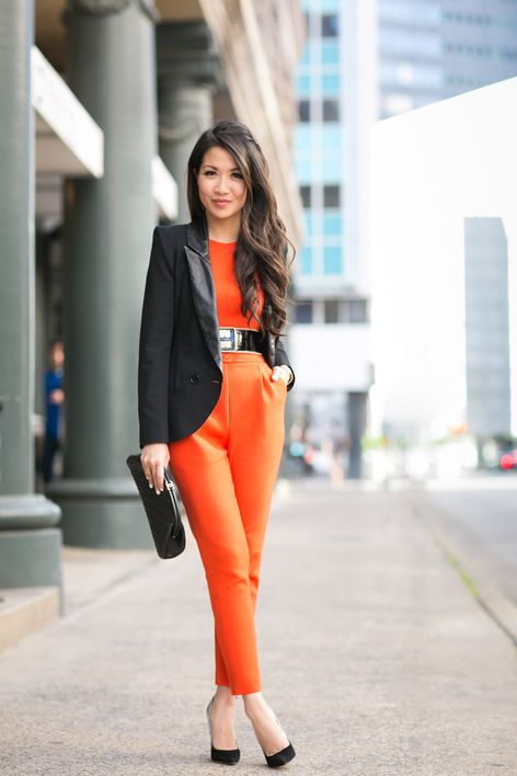 Suiting Up :: Orange jumpsuit