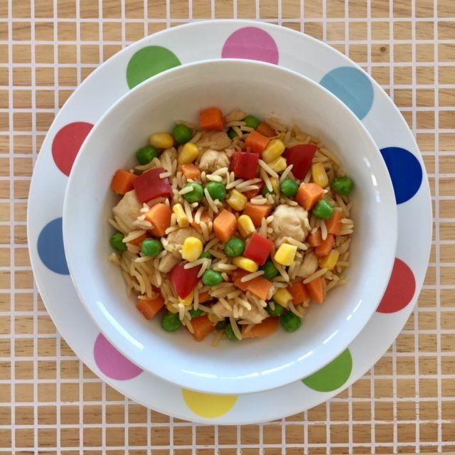 Rainbow Chicken Fried Rice