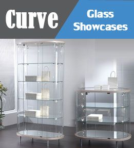Glass showcases counter and shop display cases . All supplied with light as standard on this range. Available in 3 Chou r of colours . Look at the full range on our website . Planetdisplay.co.uk