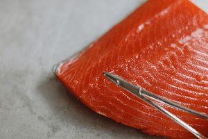 Removing Salmon Pin Bones