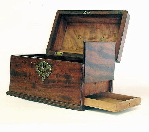 #antique #vintage #box with secret drawer compartment