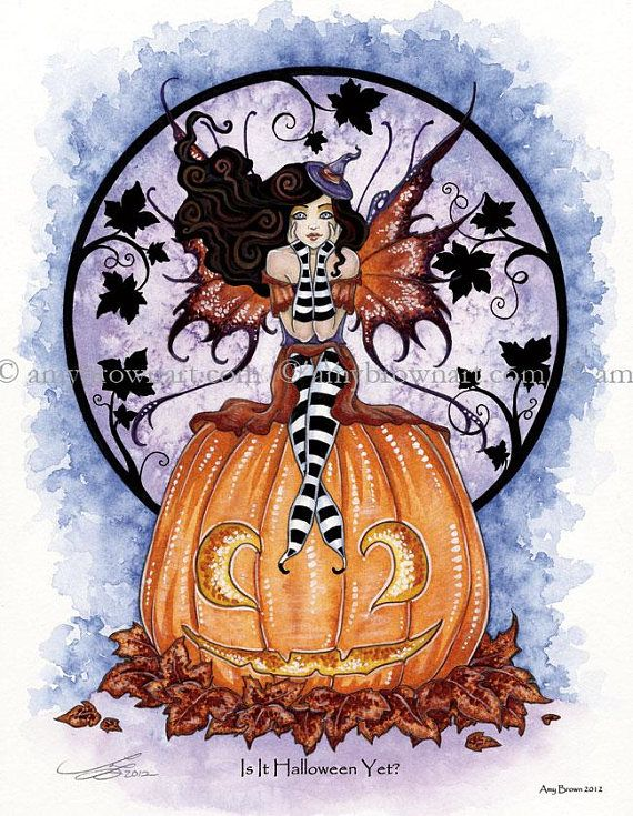 Is It Halloween Yet 8.5X11 PRINT by Amy Brown