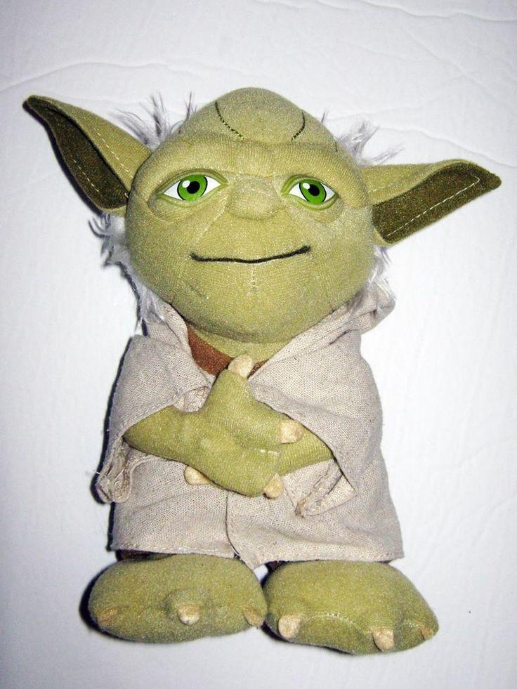 "Star Wars Talking Yoda Plush Dolls 2010 Lucas Films 8.5"""