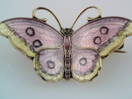 Vintage Hroar Prydz Norway Sterling Enamel Butterfly Pin Colorful Gorgeous L K | eBay