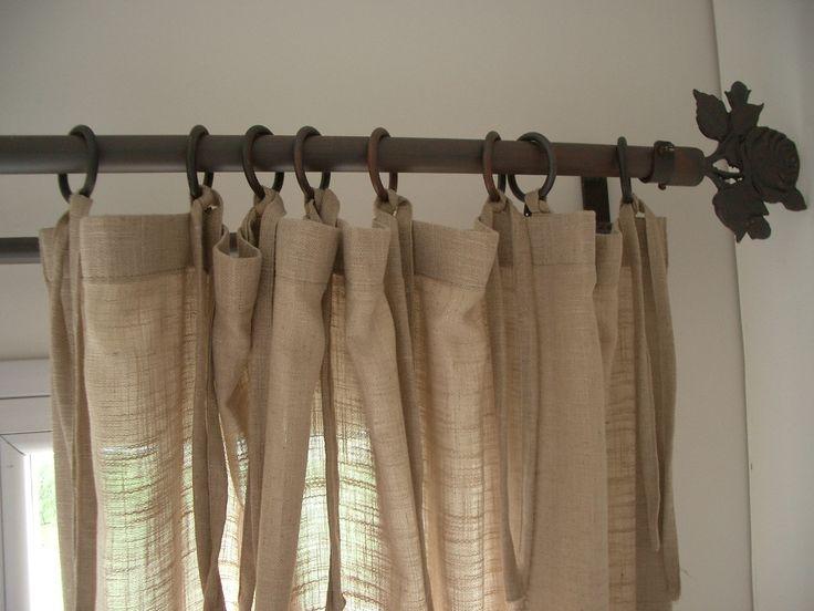 Cortina de lino con tiras. romina guerrero