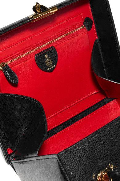 Mark Cross - Grace Large Textured-leather Shoulder Bag - Black