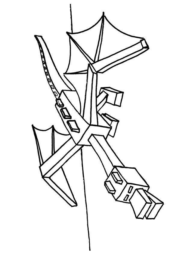 Ender Dragon Minecraft Coloring Pages Dragon Coloring Page Coloring Pages