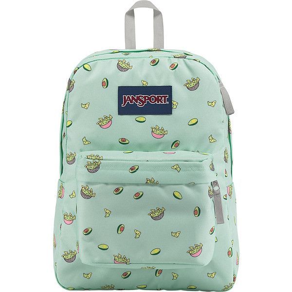 7c53332989579 JanSport SuperBreak Backpack - Avocado Party - School Backpacks ( 36) ❤  liked on Polyvore featuring bags