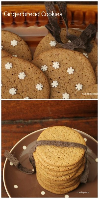 Soft, Crunche & Chewy Gingerbread Cookies. Recipe on the blog