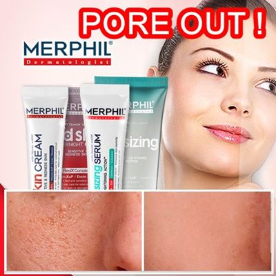 [S$14.90][MERPHIL]  Red Skin Cream and Pore-Resizing Serum/ Finally launched Best Ever Skincare in Korea (90000 units sold in just 3 Months)