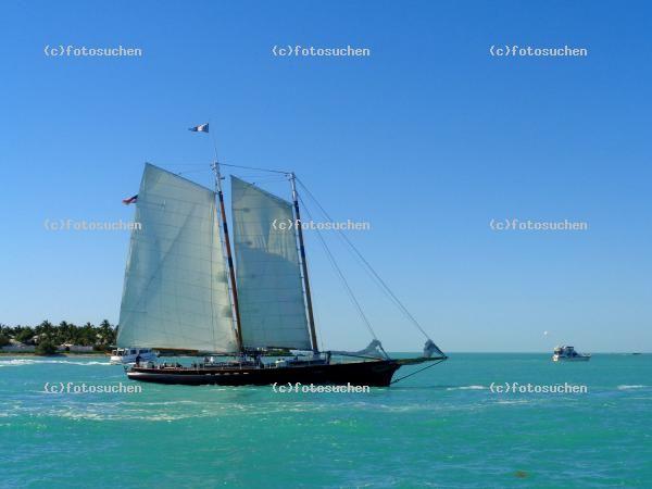 FOTOSuchen Bilder Agentur | Segelboot Key West Florida Insel Meer | Bilder  Foto Archiv Muenster.