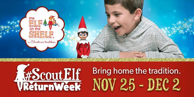 At the end of November, the time comes for Santa's scout elves to depart the North Pole and make their way to homes around the world for #ScoutElfReturnWeek™! This weeklong celebration (Nov. 25–Dec. 2) is when most families welcome back their scout elves, or adopt a new North Pole helper. Stay tuned for more special videos from Santa to stay up-to-date on all of the latest Scout Elf Return Week™ news!