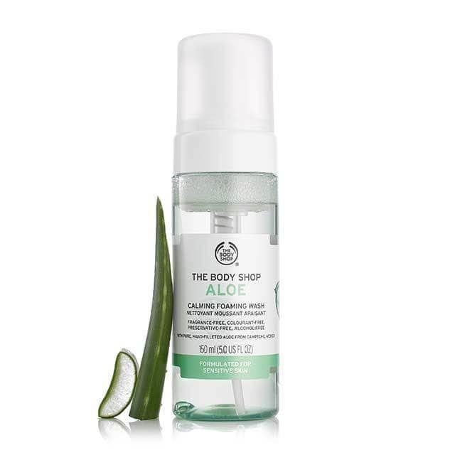 Aloe Calming Foaming Wash The Body Shop Paraben Free Face Wash