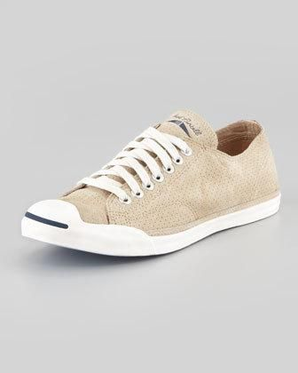 Converse Jack Purcell Perforated Sneaker, Warm Sand