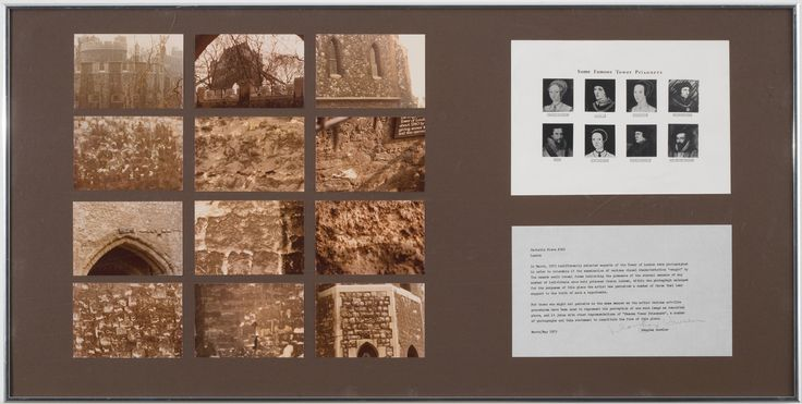 Douglas Huebler: Variable Piece #502, May 1975. Documentation system: 12 photos, type-written text, print.