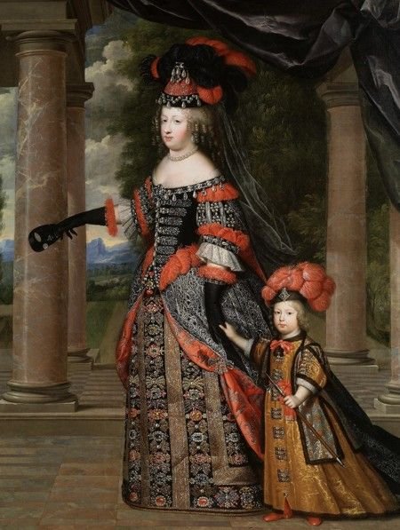 Maria Theresa of Austria (Spanish: María Teresa; French: Marie-Thérèse) (10 September 1638 – 30 July 1683) was the daughter of Philip IV, King of Spain and Elizabeth of France. Maria Theresa was Queen of France as wife of King Louis XIV and mother of the Grand Dauphin, an ancestor of the last four Bourbon kings of France.