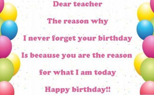 Happy Birthday Wishes to Teacher - Birthday for Teacher