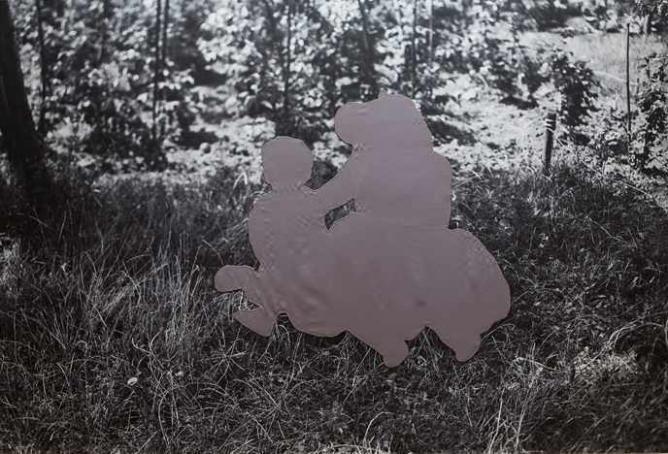Marianne Csaky, Time Leap - Garden 1, Lightjet print, silk, 147 x 100 cm, 2008 | © Carthago65/WikiCommons