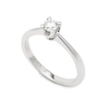 Μονόπετρο δαχτυλίδι από λευκόχρυσο Κ18 με μεγάλο διαμάντι λεπτό στρογγυλό με διεθνές πιστοποητικό GIA   Μονόπετρα ΤΣΑΛΔΑΡΗΣ στο Χαλάνδρι #μονοπετρο #διαμαντι