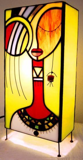 lámpara de sobremesa  vidrio,estaño,cobre tiffany                              …