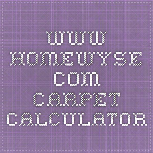 www.homewyse.com carpet calculator