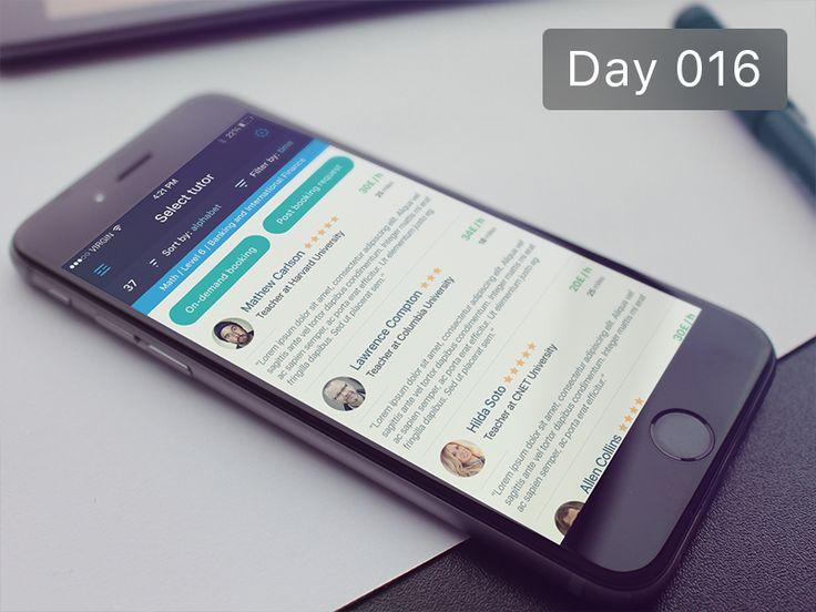 Day 016 - Select tutor by Gabriel Paunescu
