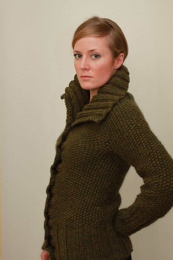 Knit Cardigan Pattern Top Down : cardigan top down seed stitch sweater knitting pattern. diy: knit+crochet. ...