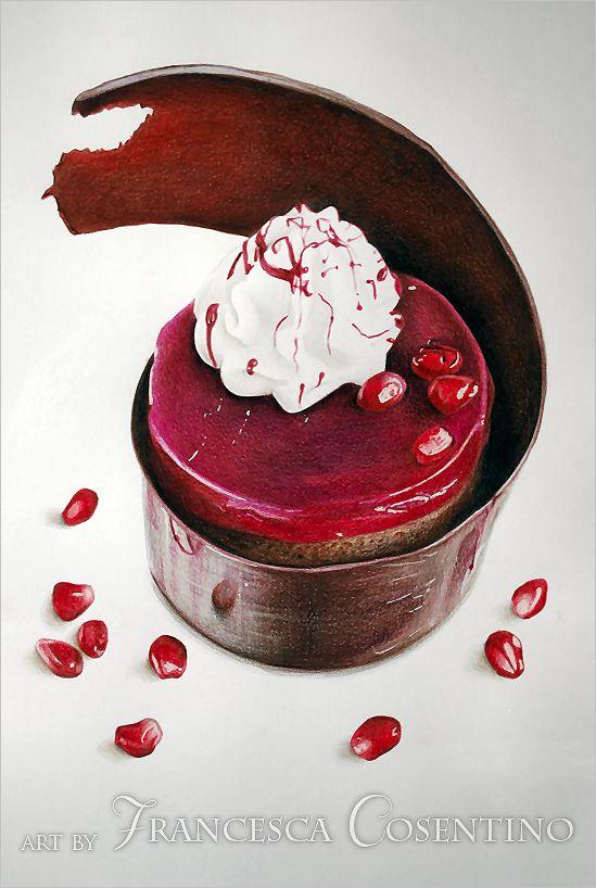 Little+cake+with+pomegranate+by+19Frency94-Art.deviantart.com+on+@DeviantArt