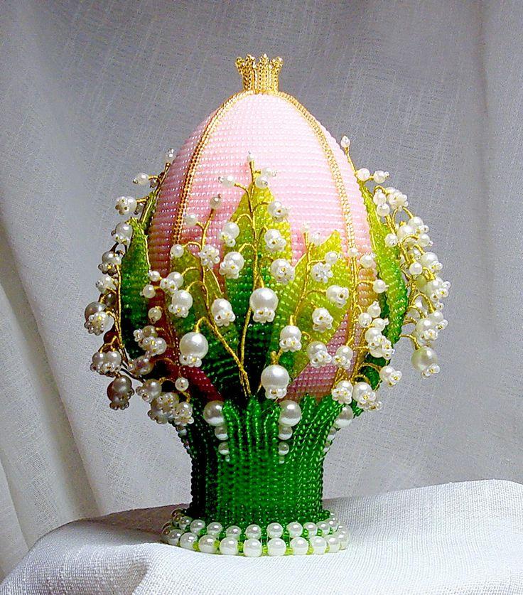 Beautiful Beaded Easter Eggs