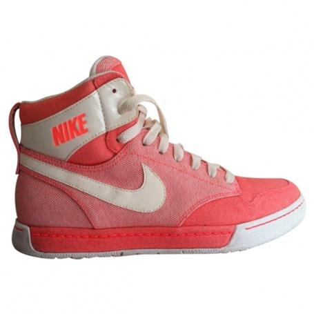 Hi-top sneakers NIKE Orange size 38,5 All seasons - 380225  #nike  #vestiairecollective