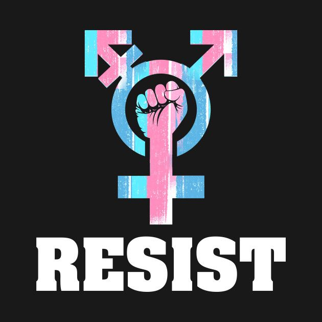 Check out this awesome 'Resist with Transgender Symbol' design on @TeePublic! #transgender #resist