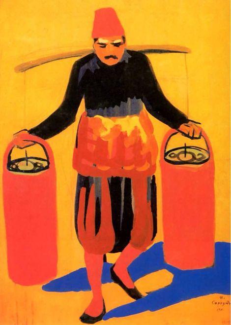 Martiros Saryan, Seller lemonade, 1910 on ArtStack #martiros-saryan #art