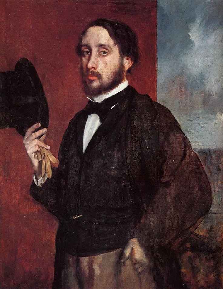 Self Portrait Saluting, 1865-1866 - Edgar Degas