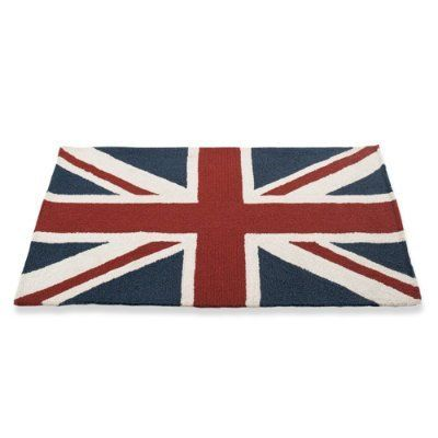 """Union Jack Mat - 30"""" x 48"""" - Grandin Road by Grandin Road. $89.00. This boldly printed mat comes in two sizes. 100% polypropylene. Hoses clean and dries in the sun. Hand-hooked construction. Hand-hooked construction. 100% polypropylene. This boldly printed mat comes in two sizes. Hoses clean and dries in the sun. Greet your guests with boldness and retro flair when you place our Union Jack Mat at your doorstep. This mat has all-weather durability; it's hand-hooked from fi..."""