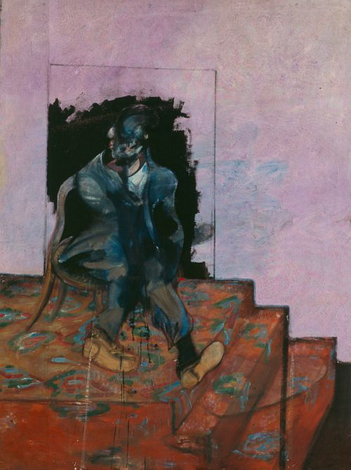 Francis Bacon, 'Untitled (Seated Figure on a Dappled Carpet)' (1966)