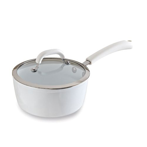 All White Ceramic Cookware 2.75-qt. Covered Saucepan - The Pampered Chef® This item is retiring from Pampered Chef's catalog as of August 31st, 2014 - but is only AVAILABLE WHILE SUPPLIES LAST!!! Order yours today at www.pamperedchef.biz/brendaprell