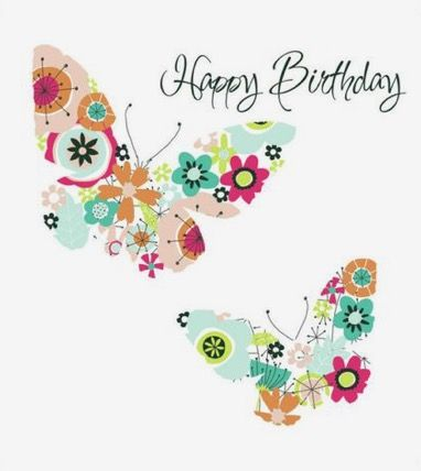 205 Best Birthday Wishes Images On Pinterest Beautiful Calm And Happy Birthday Wishes Butterfly