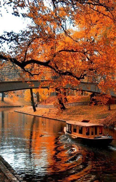 Bootstour durch den Herbst