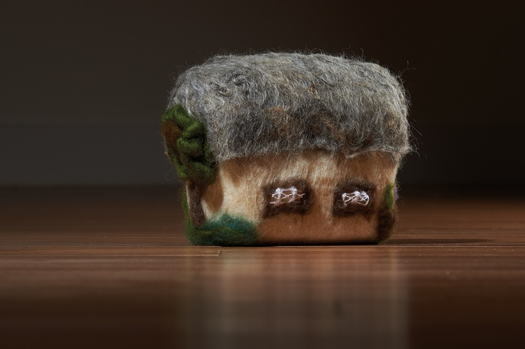 Jolanta Prochnowski© 'Untitled' felted & dyed wool rowing