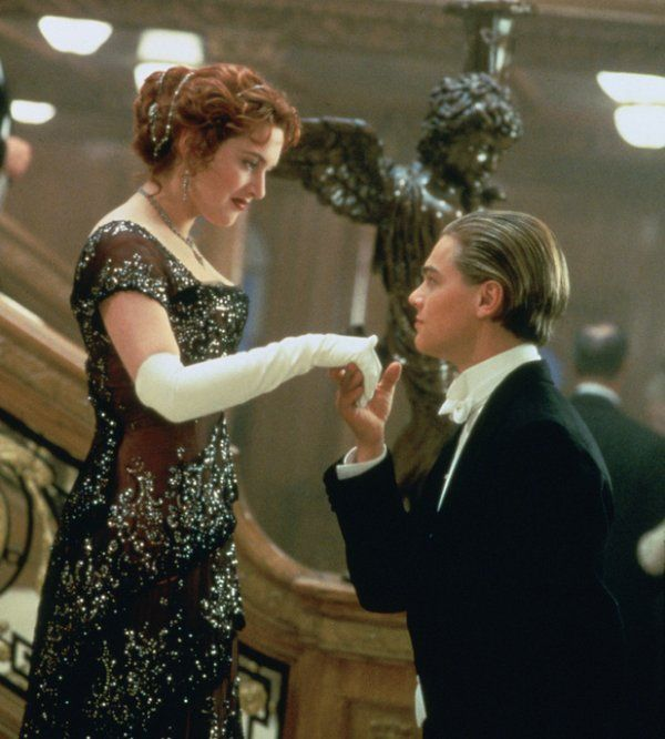 "Leonardo DiCaprio plays Jack Dawson and Kate Winslet plays Rose DeWitt Bukater in a scene from the motion picture ""Titanic."" Description from mediagallery.usatoday.com. I searched for this on bing.com/images"