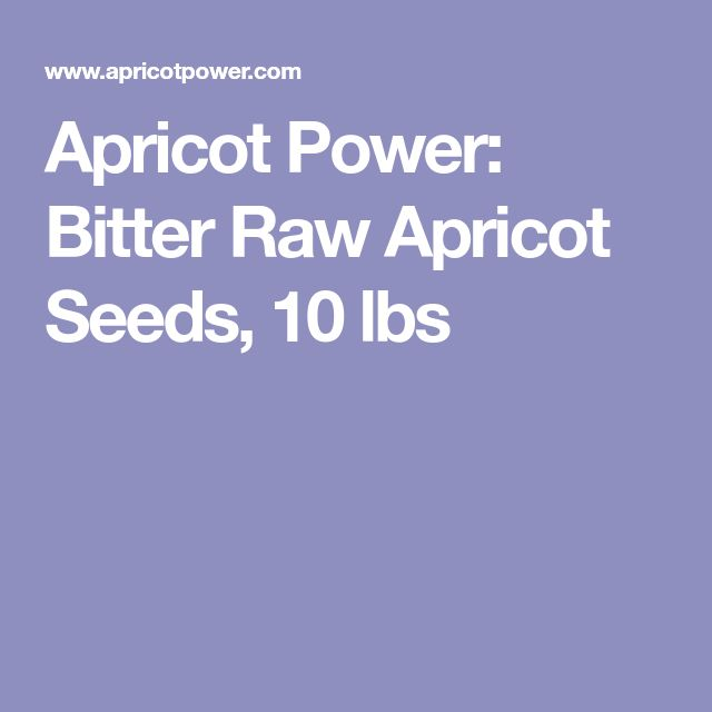 Apricot Power: Bitter Raw Apricot Seeds, 10 lbs