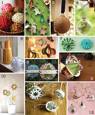 The Creative Place: DIY Christmas Ornament Round-Up