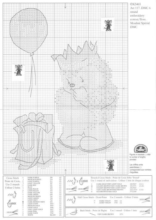 Hedgehog cross stitch