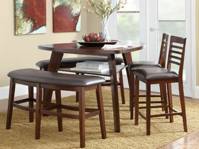 9 best images about home dining room furniture on pinterest counter stools enabling and birches - Triangle kitchen table set ...