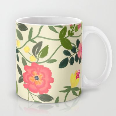 Watercolor flowers Mug by Babiole Design - $15.00