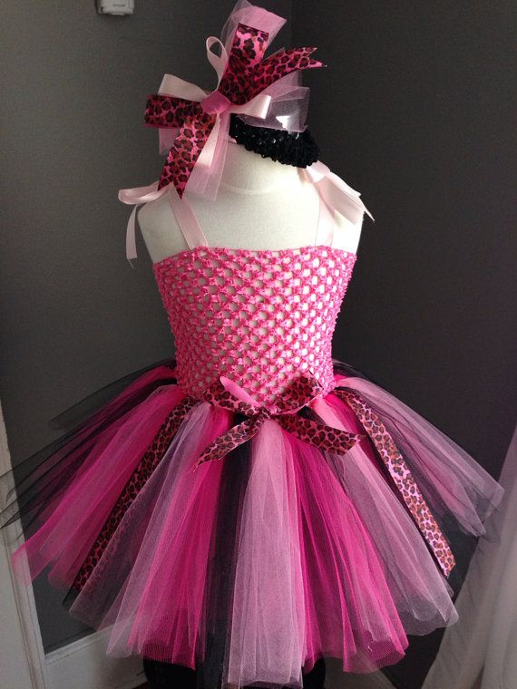 Pink Cheetah Tutu Dress by Arribelle on Etsy, $45.00