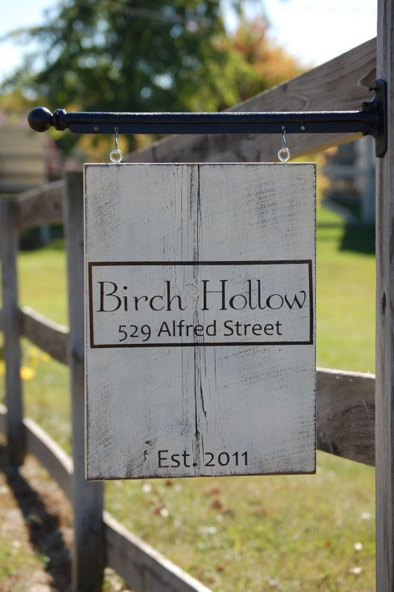 Shabby Chic Address Sign painted on barn wood. Post included. Handpainted. Personalized. House Warming gift on Etsy, $150.00