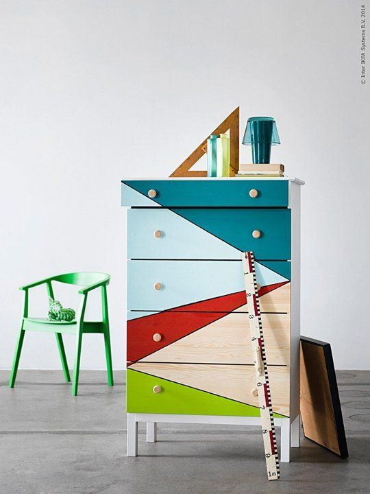 I want to trade my dresser in for a highboy.  Could hack an Ikea one to save money over a mid-century design.  1 IKEA TARVA Dresser, 25 Different Ways
